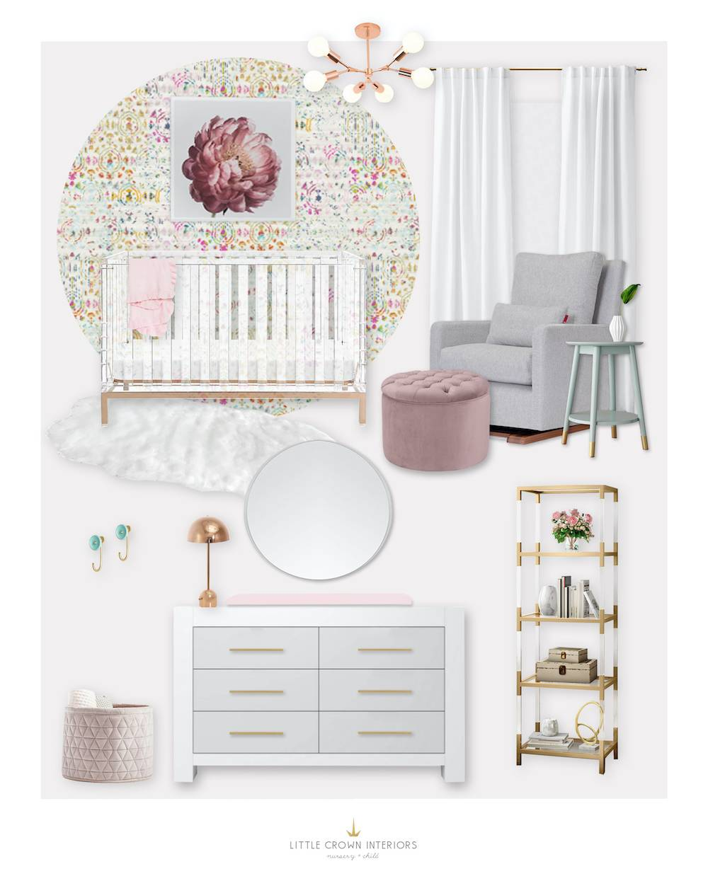 Mauve Girl's Nursery E-Design