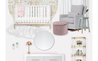 Design Board: A Colorful Mauve Girl's Nursery