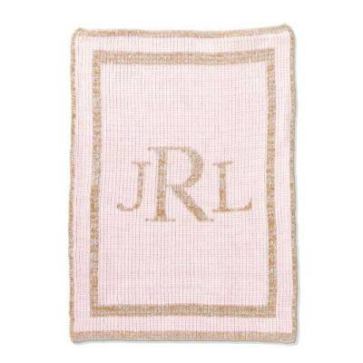 Metallic Monogram Baby Blanket