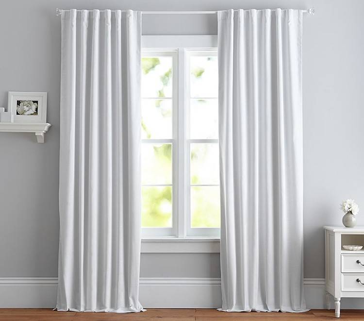 White Blackout Curtains for Nursery