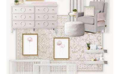E-Design Reveal: A Neutral & Blush Nursery for Twins