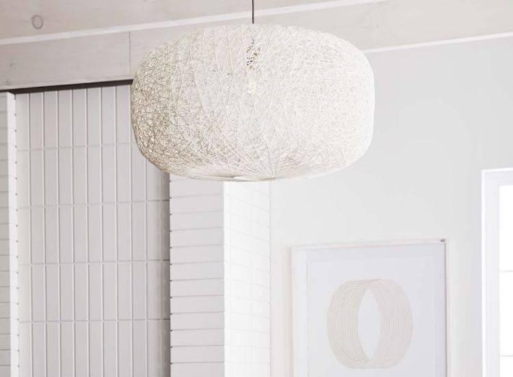 Woven White Pendant Light