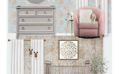 E-Design Reveal: Elegant & Whimsical Floral Nursery