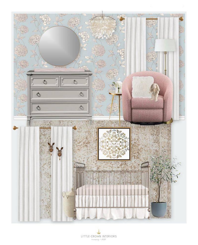 E-Design: Elegant Floral Nursery