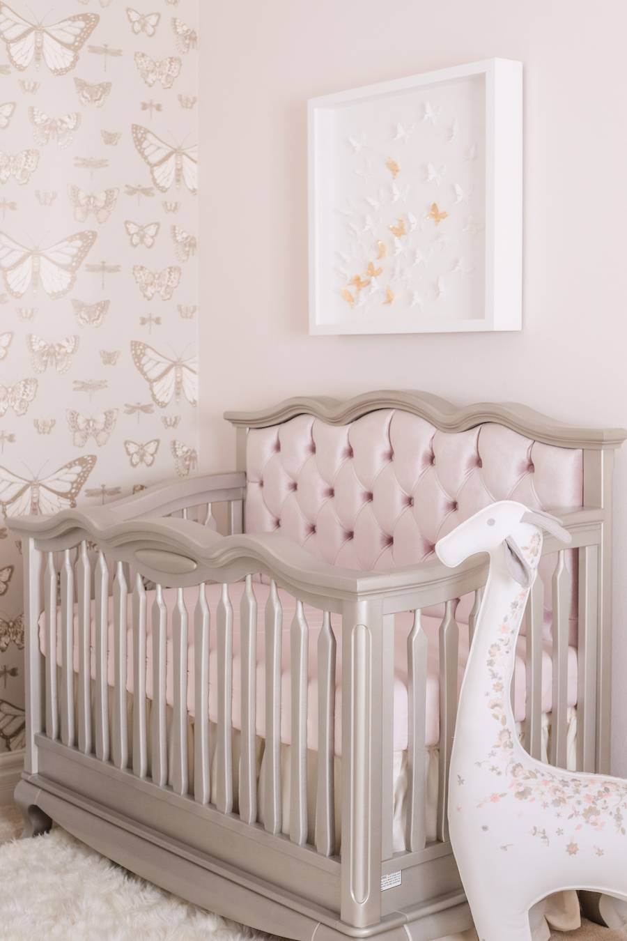 Traditional Butterfly Nursery with Mauve
