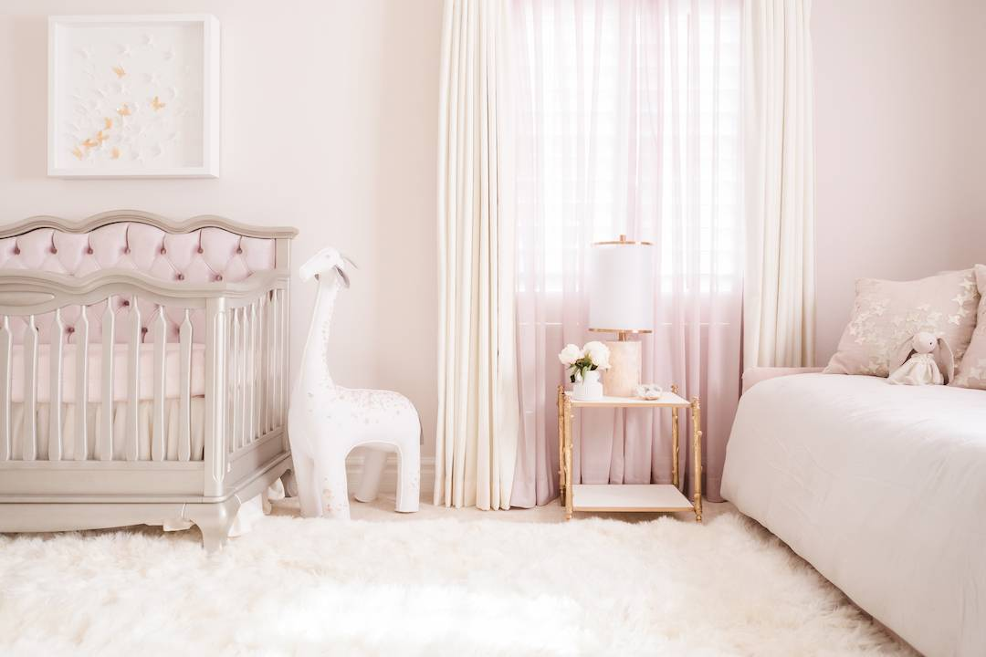 Mauve Pink Butterfly Traditional Twin Nursery