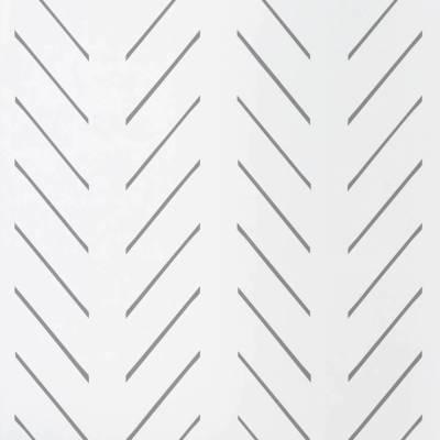 White and Grey Herringbone Wallpaper