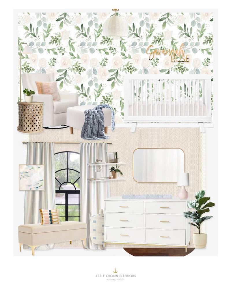 Blue & Green Neutral Nursery E-Design