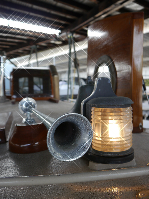 The original horn, bell, and light.