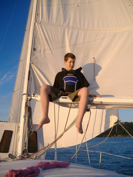 Andrew in his youth aboard the Saucy Sue. We learn by doing.