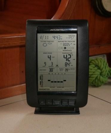 Indoor temp is 77F. Toasty!