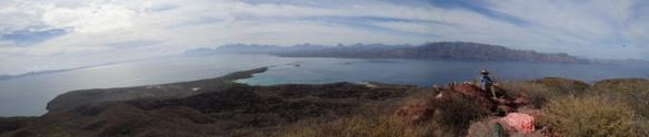 The view from the summit. Galapagos is down there, somewhere with cold beers waiting.