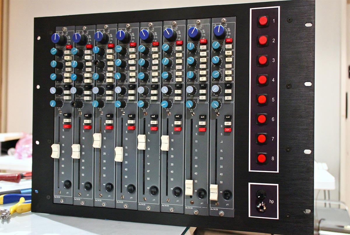 Neve PSU Installed; Neve 34128 rack of eight complete and ready for service