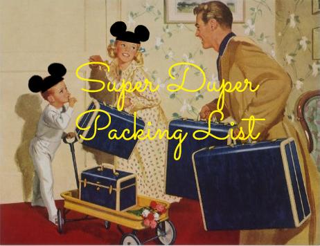 Super Duper Packing List