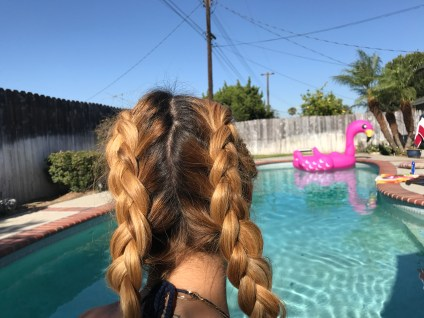loose dutch braids