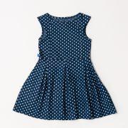 blauw jurkje witte stippen
