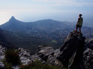 The view of Cape Town and Lion's Head form Table Mountain