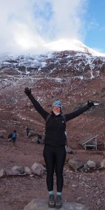 Hiking up Chimborazo
