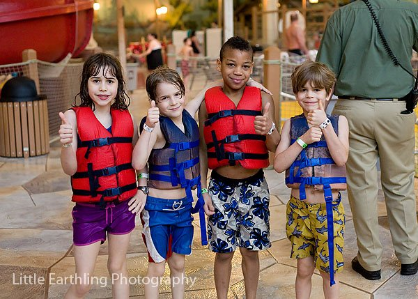 Kids at Great Wolf Lodge