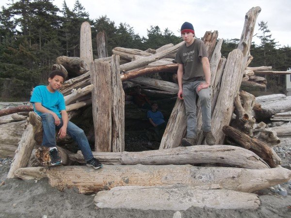 The boys' campout at Deception Pass