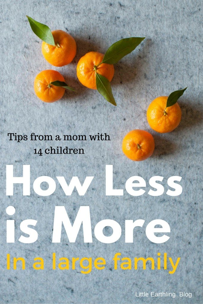 How Less is More in a Large Family