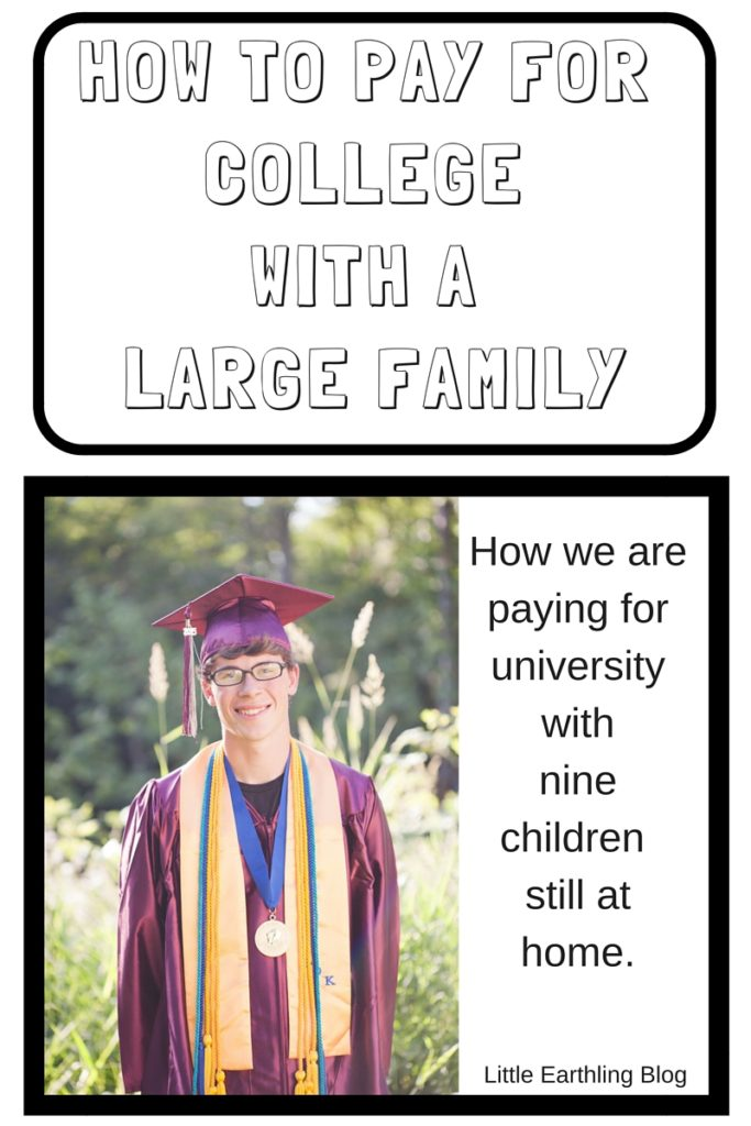 How to pay for college with a large family.