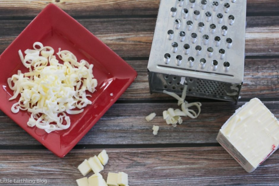 If your recipe calls for softened butter and you don't have any, grate it instead. Large family kitchen hacks.