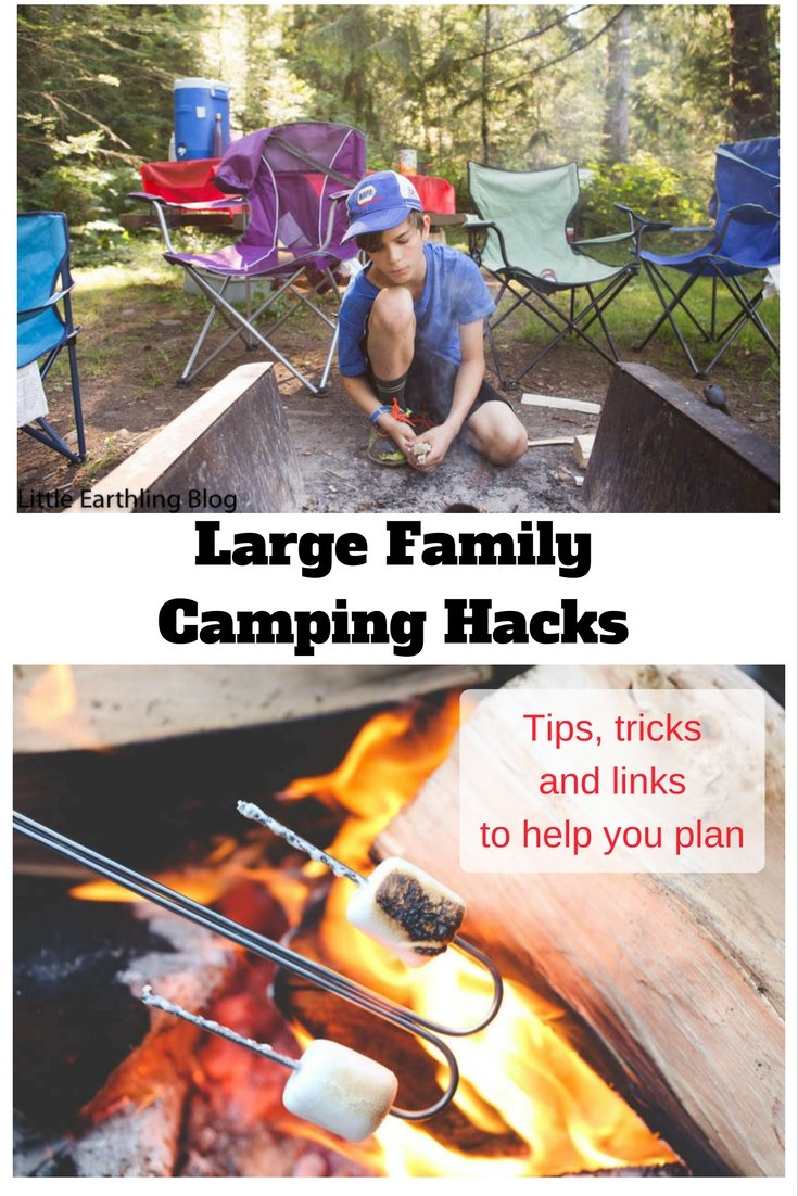 Large family camping hacks to help you plan your vacation.
