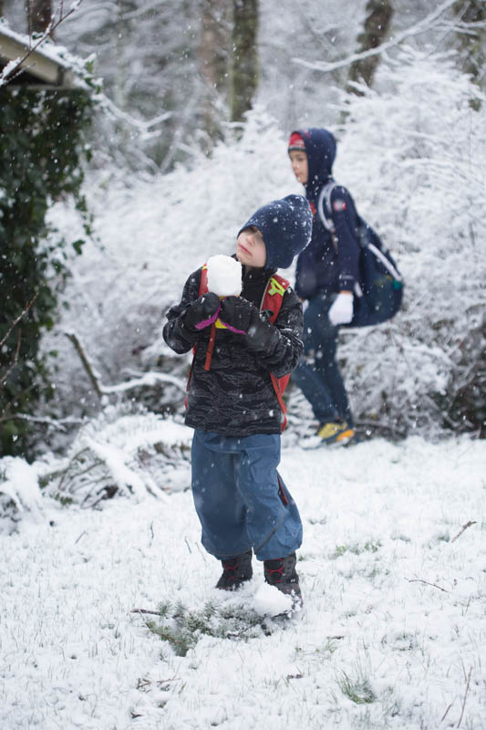 Snow isn't a given in the Pacific Northwest....so you can bet my kids take full advantage when it arrives.