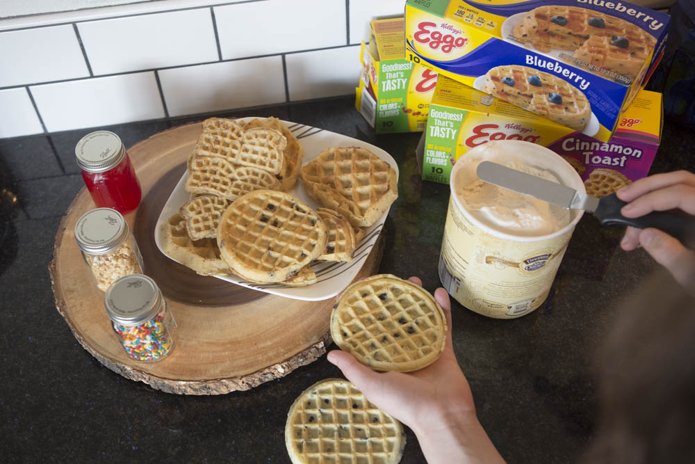 Waffle Ice Cream Sandwiches are the perfect summertime dessert.