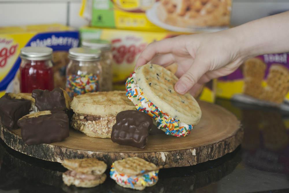 Waffle Ice Cream Sandwich Recipe
