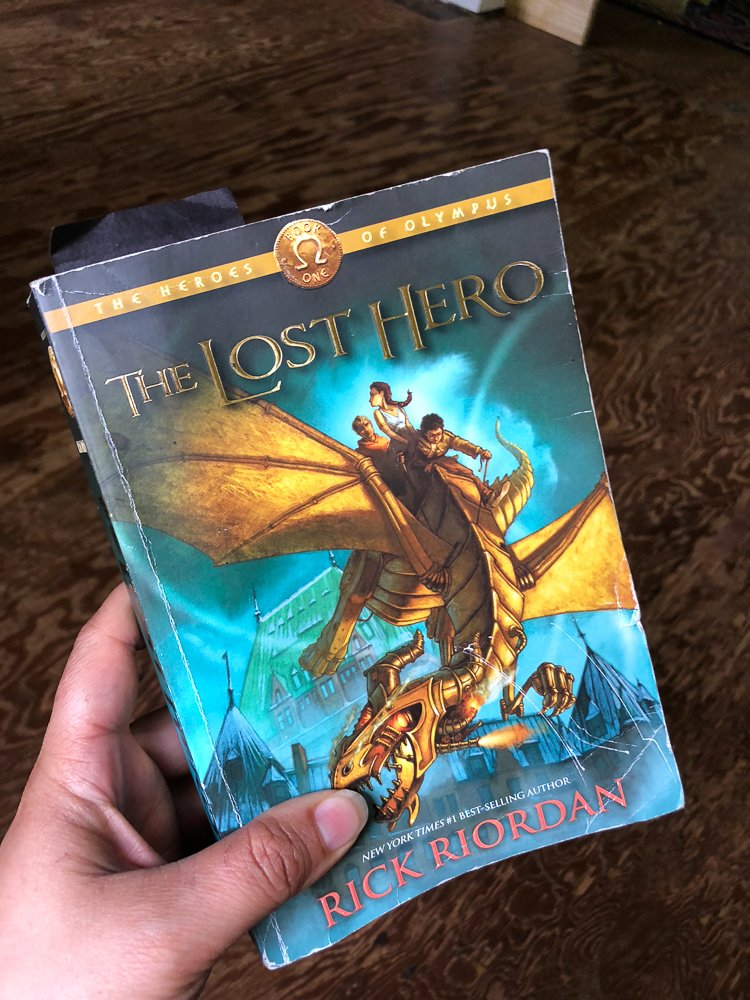 We have finished Percy Jackson and have moved onto The Lost Hero. Hurray for me...