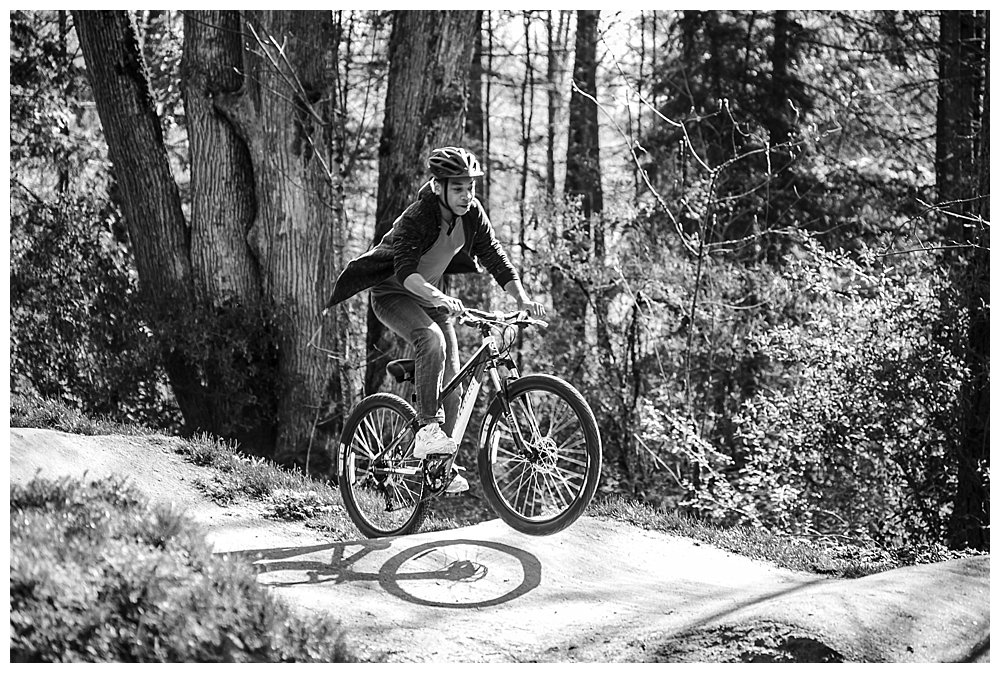 Enjoying the Whatcom Falls bike track.