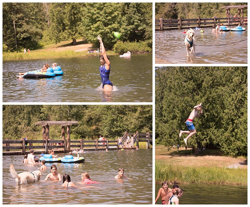 Swimming at Silver Lake during the church campout.