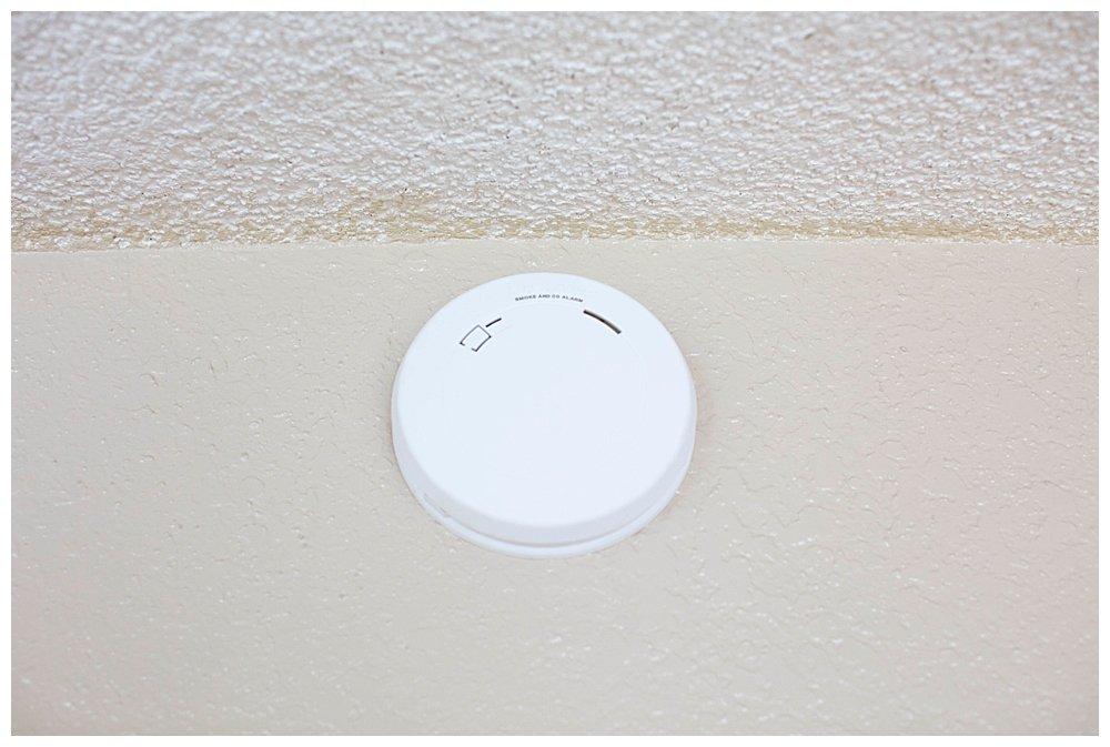 First Alert Smoke Detector is slim.