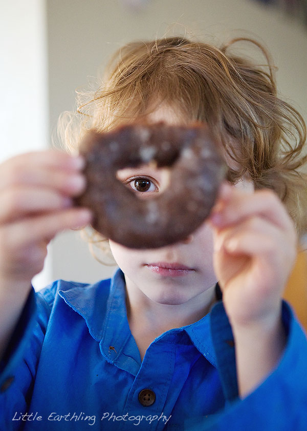national doughnut day, boy with doughnut, bellingham photographer