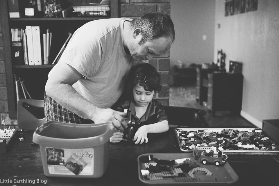 Father and son bonding...over LEGO