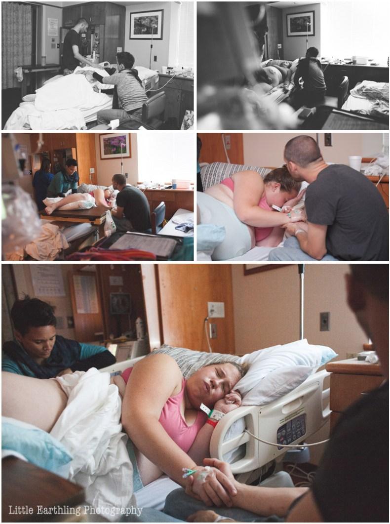 Mama laboring in hospital