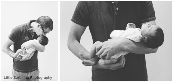 newborn in daddy's arms