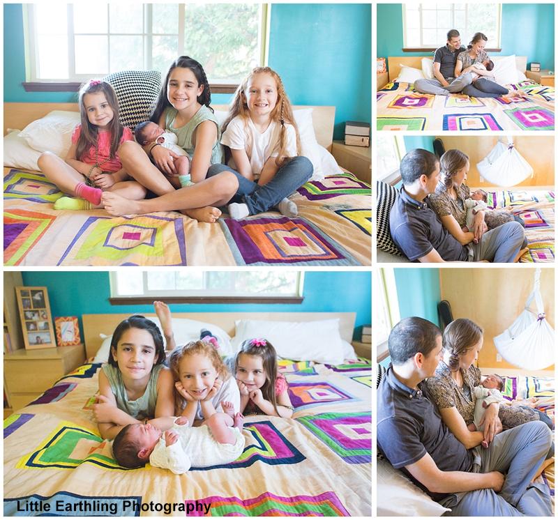 in-home newborn photo session