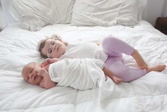 Natural, lifestyle newborn session. Bellingham newborn photographer.