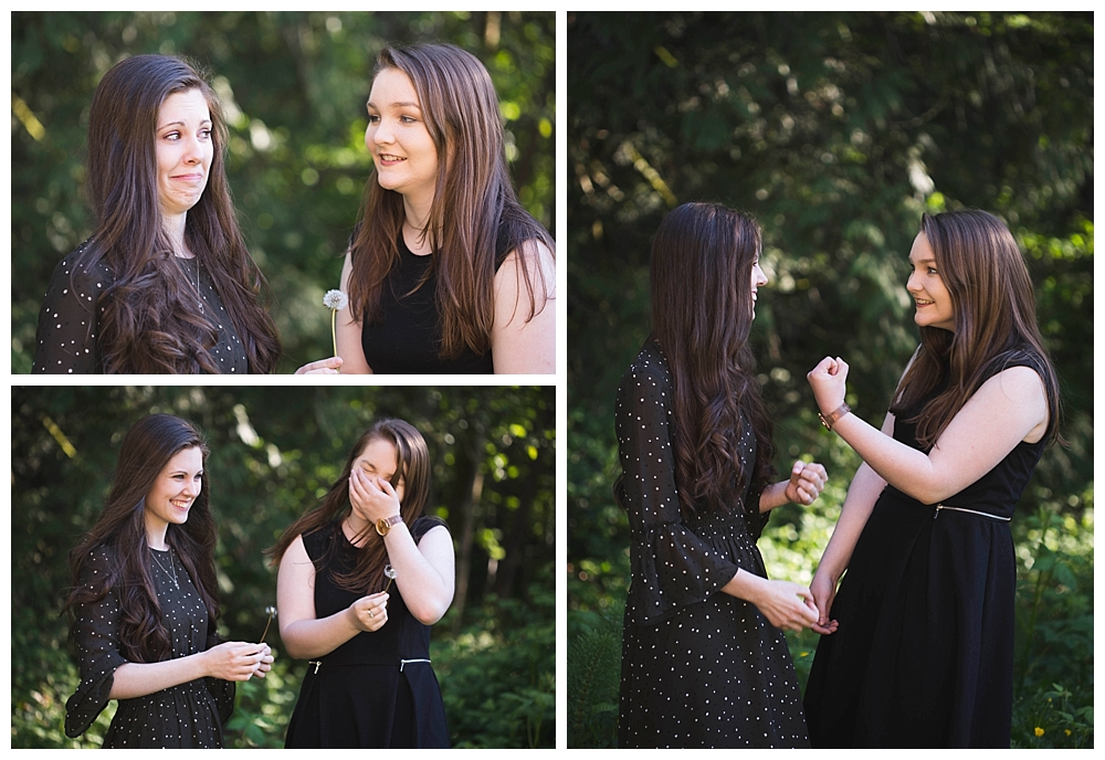Best friends senior photos in Bellingham can help you feel comfortable in front of the camera.