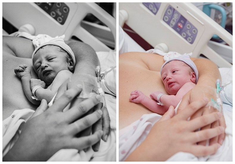 Tiny Odessa was born a few weeks early. Birth photography in Bellingham, WA