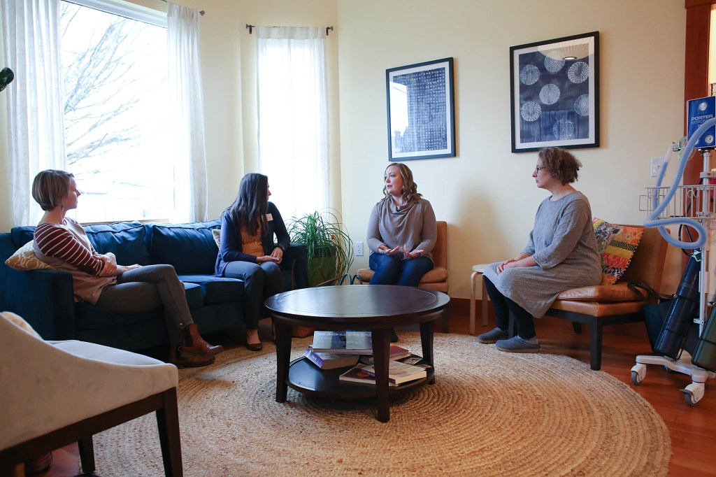 Birthroot midwives Ann Tive and Sara Day talk to Doulas of Bellingham about nitrous during labor.