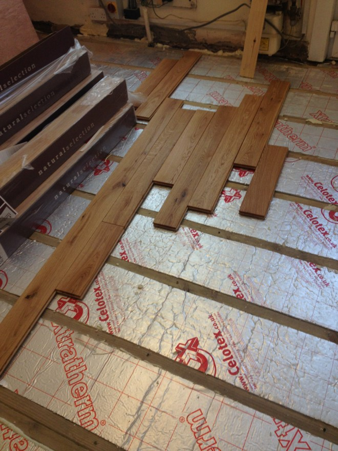Laying the boards
