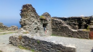 Ruins of the Tintagel Castle.