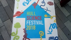 Hull Science Festival sign