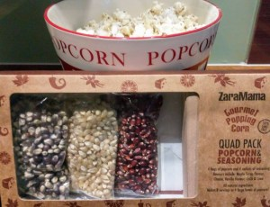 Popcorn in the Golden Oak Hideaway at Forest Holidays.