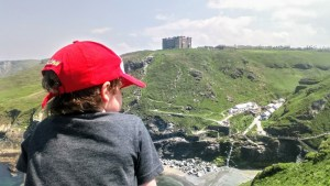 Noah looks out on Tintagel Bay