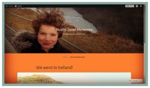 Photo Souvenirs - Example of a website to display travel photos